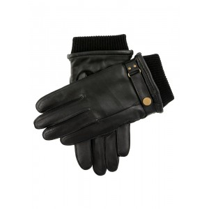 Men's warm lined dress leather gloves