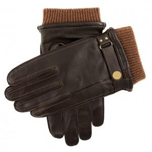 Men's warm lined dress leather gloves