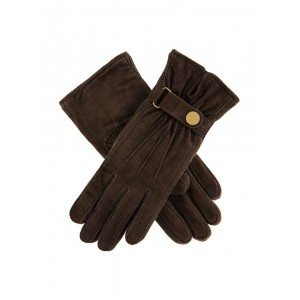 Fancy Suede Gloves With Knitted Sidewalls