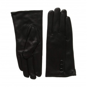 Women's Silk Lined Touchscreen Leather Gloves