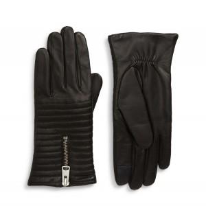 DSI Sheep Leather Touchscreen Zipper Gloves