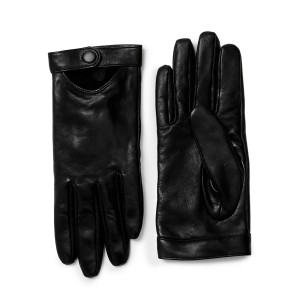 Cashmere Lambskin Leather Tech Gloves