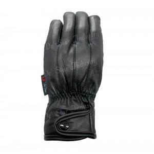 Winter genuine leather black CP gloves for men