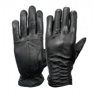 Black Signature Design Leather Touch Screen Gloves