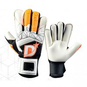 Ultra grip finger protected black & white goalkeeper gloves