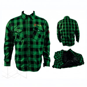 Men's Armored Checkered Flannel Biker Shirts