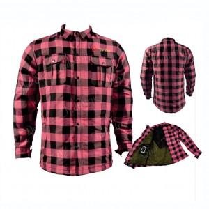 Heavyweight Long Sleeve Plain Flannel Biker Shirts