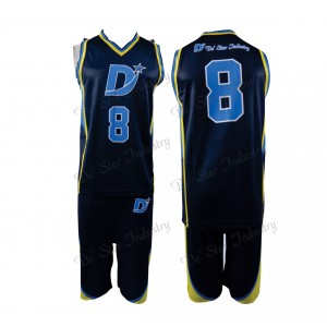 Custom design team basketball uniform